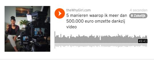 Van 500,- naar 500.000 euro omzet